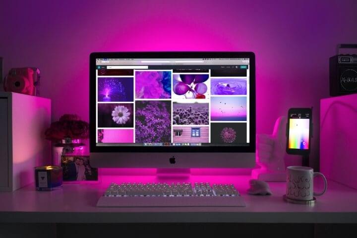 Purple Desk Image